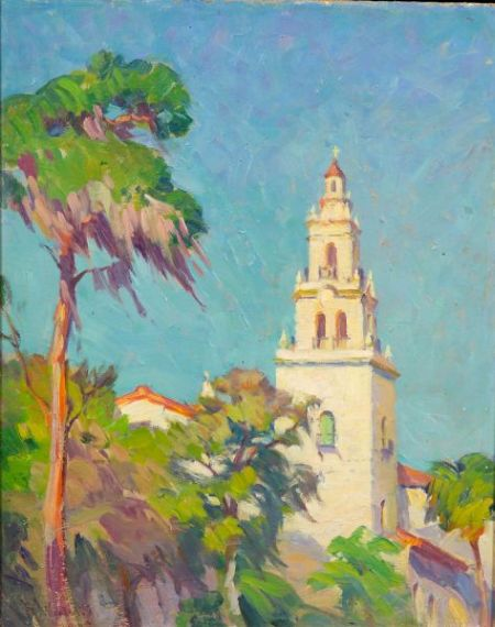 Mabel May Woodward (American, 1877-1945)    Church Towers (New Mexico)