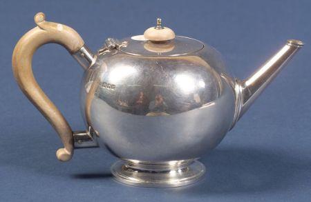 George V Silver Bullet Shaped Teapot