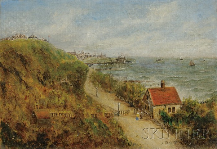 Attributed to John Brett (British, 1830-1902)      Road by the Sea.