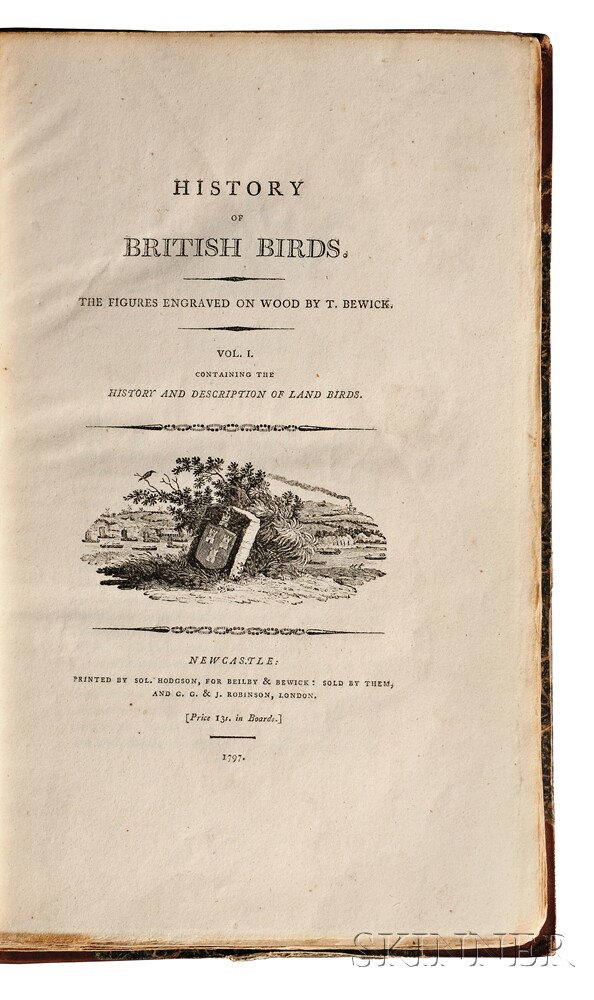 Beilby, Ralph (1744-1817) History of British Birds. Volume One  , Illustrated by Thomas Bewick (1753-1828)