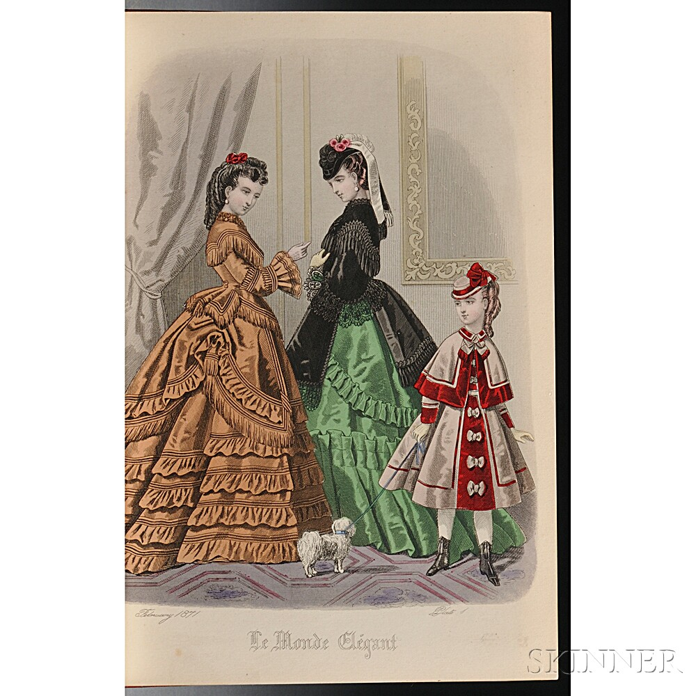 Costume, Colored Plates of the Latest Fashions.