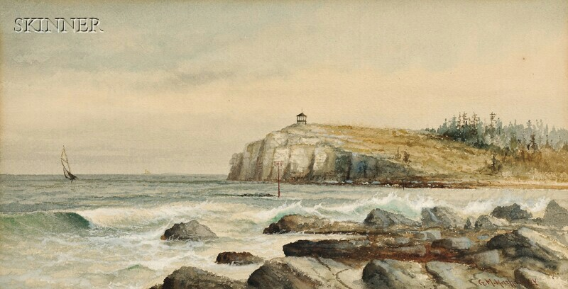 George M. Hathaway (American, 1852-1903)      View off Owl's Head, Maine