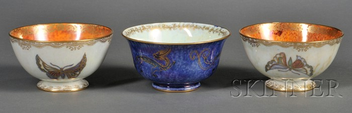 Three Wedgwood Lustre Bowls