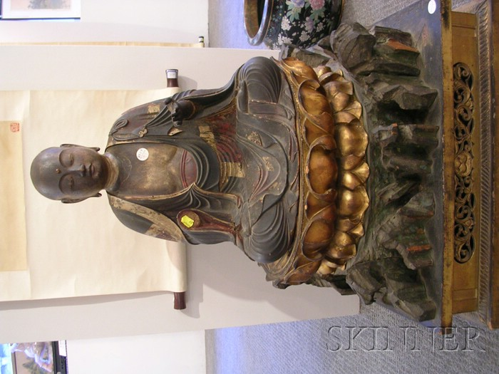 Polychrome and Gilt-lacquered Wood Figure