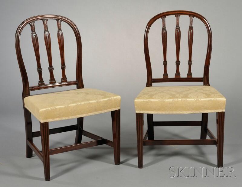 Two George III Mahogany Side Chairs