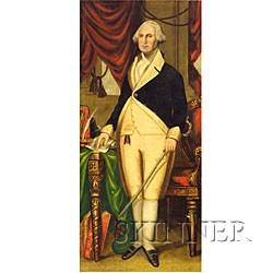 American School, 19th Century  Portrait of George Washington.