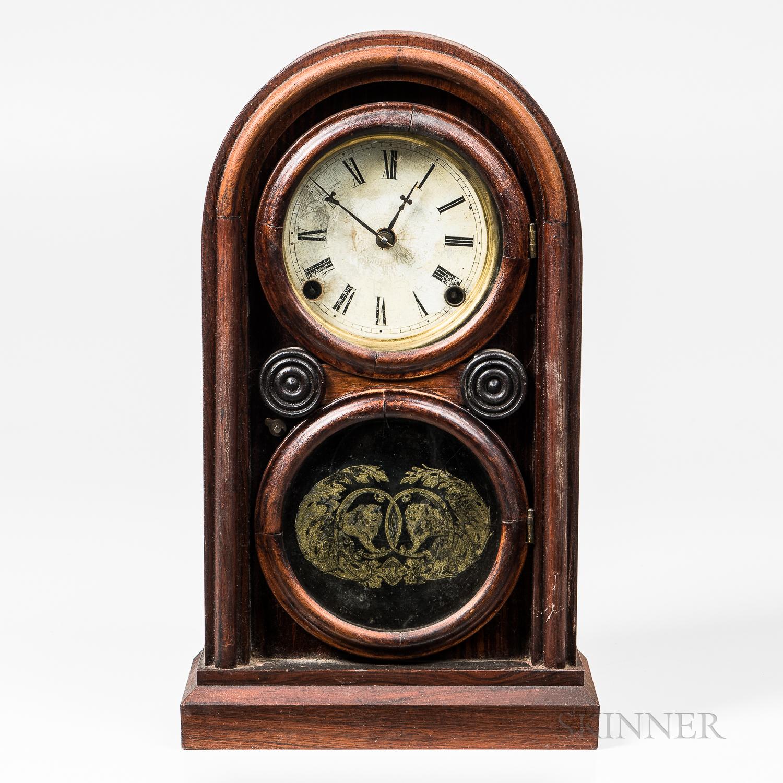 Ingraham Rosewood Veneered Shelf Clock