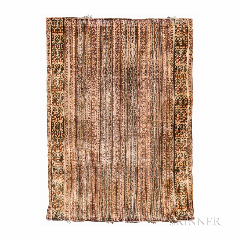 Rare Kerman Silk Velvet Ikat Panel