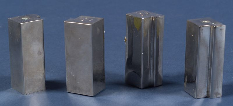 Four Modernist Silver Salt and Pepper Shakers