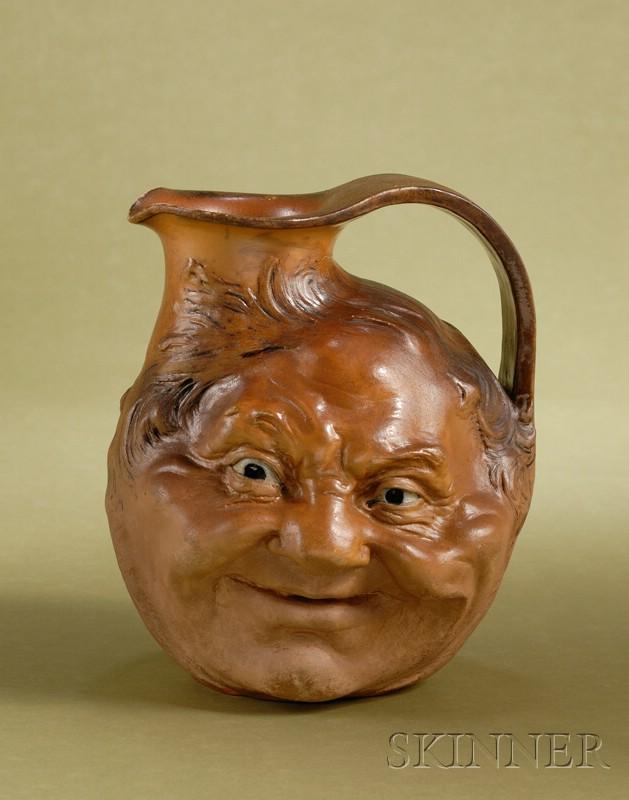 Martin Brothers Salt Glazed Stoneware Face Jug.