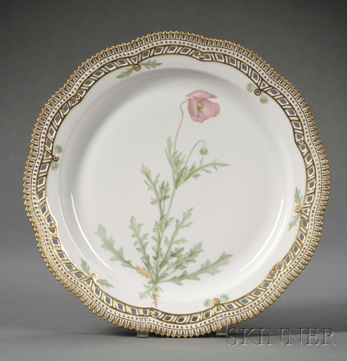 "Royal Copenhagen Porcelain ""Flora Danica"" Platter"