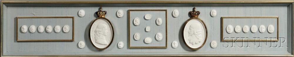 Large Framed Group of Twenty-nine Intaglios
