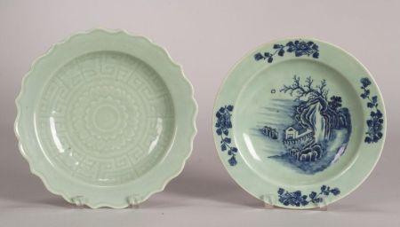 Two Celadon Plates