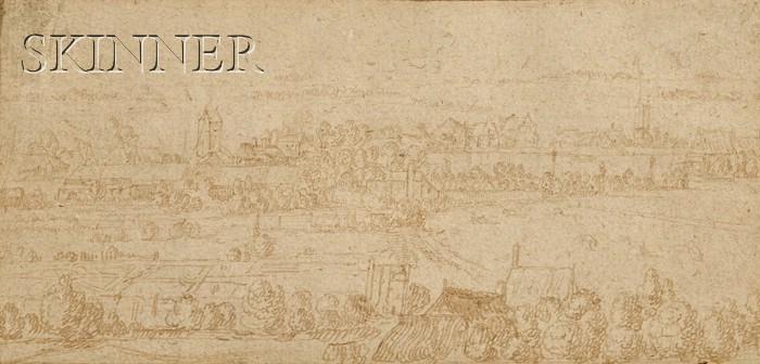 School of Hendrik Goltzius (Dutch, 1558-1617)      Town Landscape