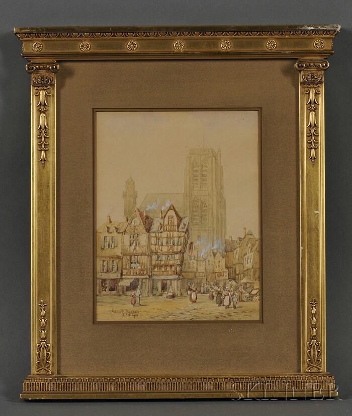 Henry Thomas Schafer (British, 1854-1915)      Abbeville, Normandy
