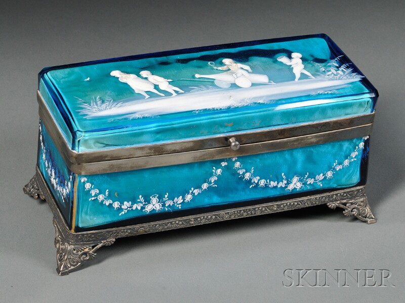 Mary Gregory Jewelry Casket