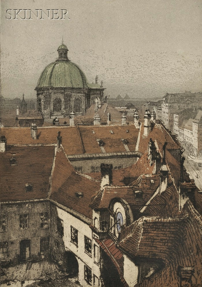 Luigi Kasimir (Austrian, 1881-1962)      WIEN/  A Portfolio of Twelve Images