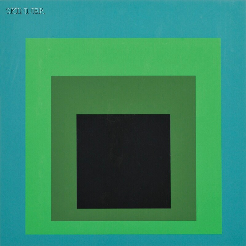Josef Albers (German/American, 1888-1976)      Two Images:  DR-a