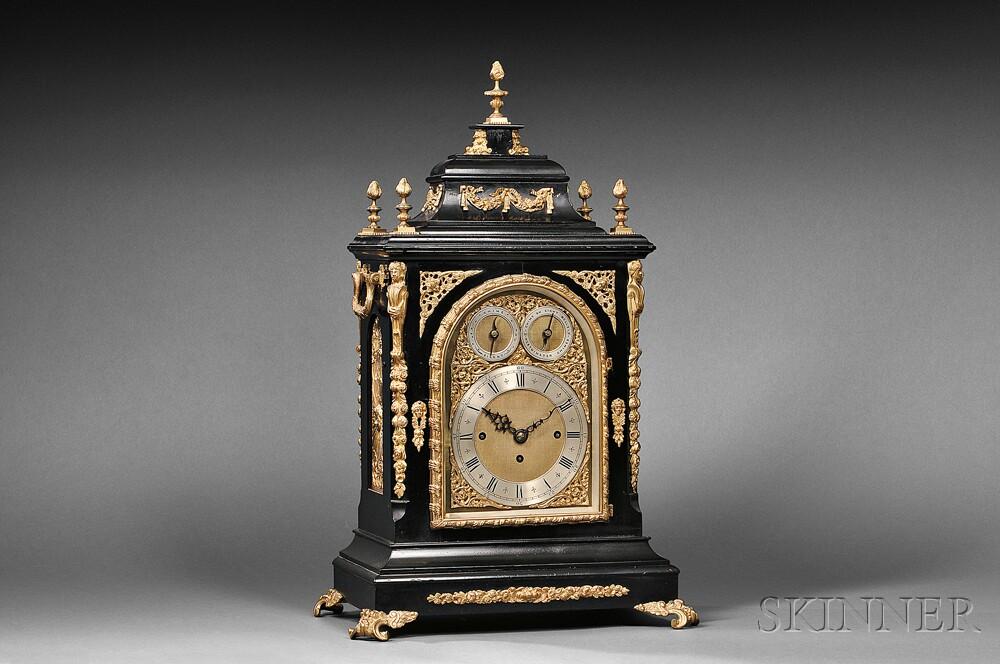 English Quarter-chiming Library Clock