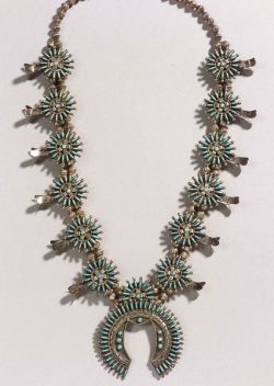 Southwest Silver and Turquoise Necklace