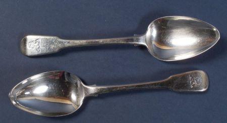 Set of Twelve George III Silver Large Tablespoons
