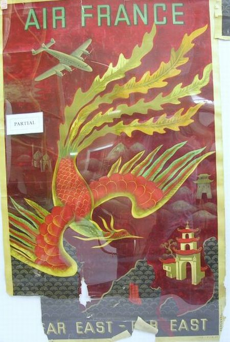 1941 Montreal Art and Crafts Fair Poster and Ten 1940s Air France Aviation Posters