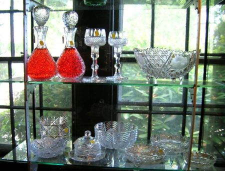 Twelve Pieces of Colorless Cut and Pressed Glass Tableware