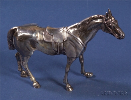 Continental Silver Figure of a Sport Horse