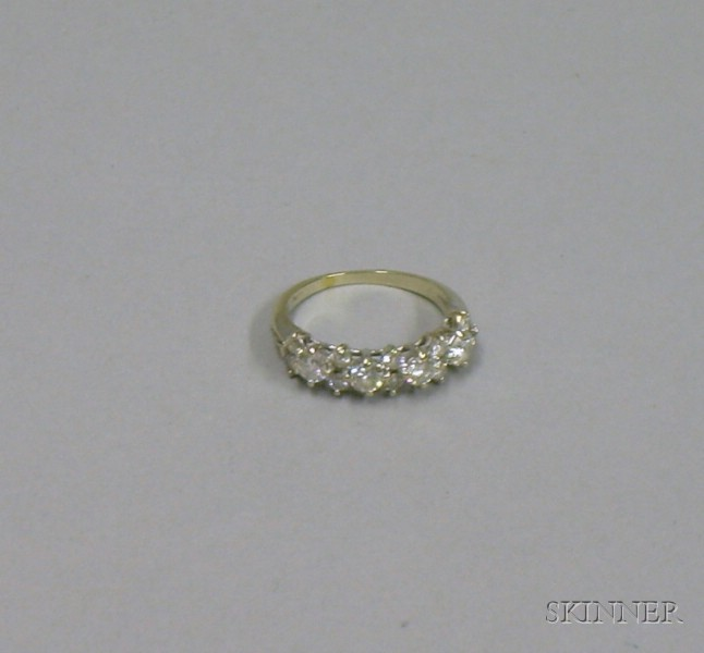 14kt White Gold and Diamond Half-Hoop Wedding Band