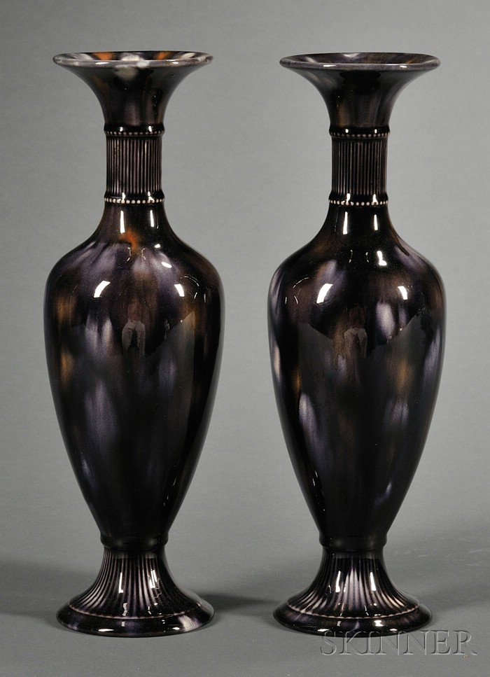 Pair of Wedgwood Majolica Vases