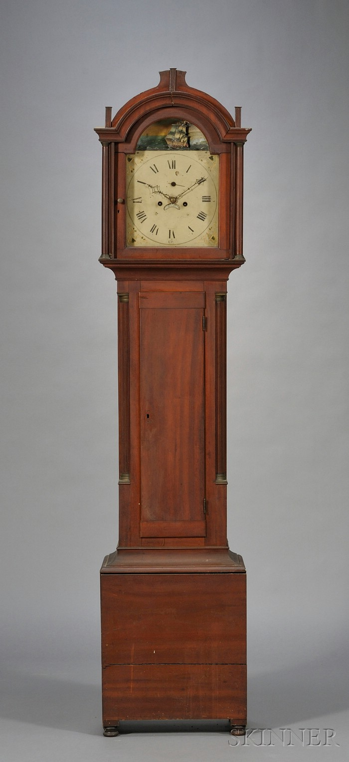 Carved Cherry Tall Case Clock