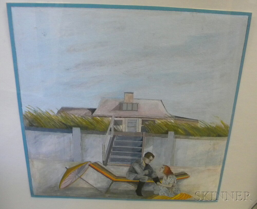 Annie McMillan (American, 20th Century)      Nine Watercolors Inspired by F. Scott Fitzgerald's The Beautiful and the   Damned