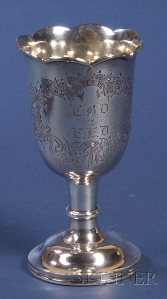 N. Harding & Co. Coin Silver Goblet