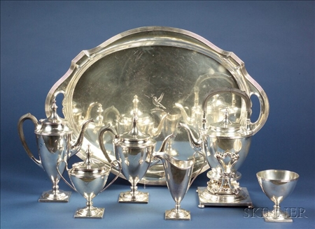 Seven Piece Gorham Sterling Tea and Coffee Service