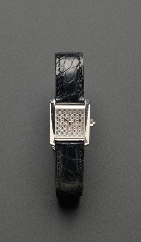 Lady's 18kt White Gold and Diamond Wristwatch, Cartier