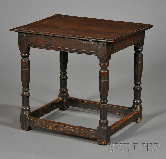Jacobean-style Oak Side Table