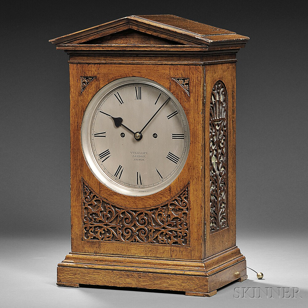 Vulliamy Oak Bracket Clock