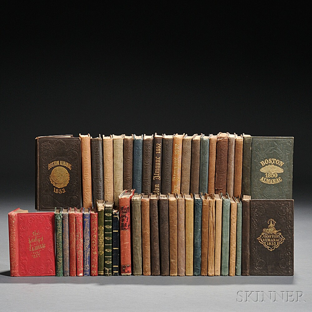 Almanacs, 19th Century, Forty-five Volumes.