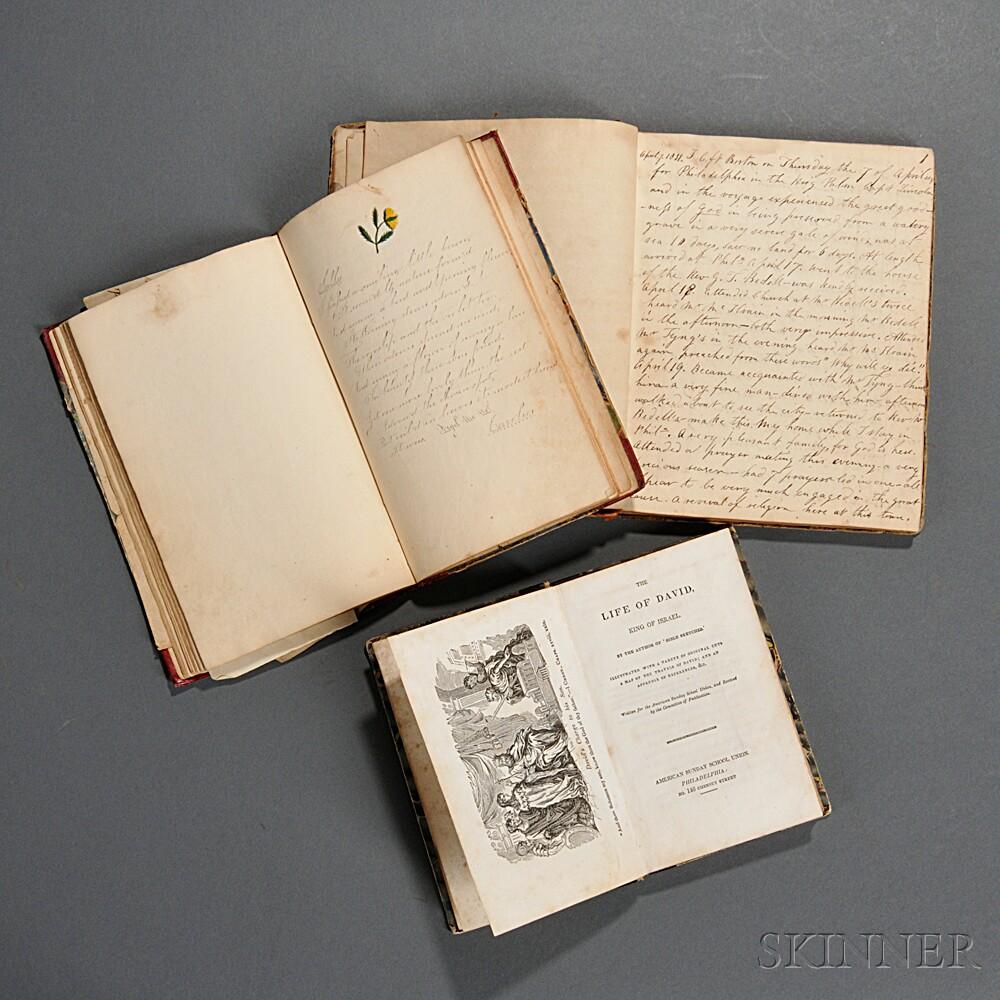 Two Manuscripts, American, 19th Century.