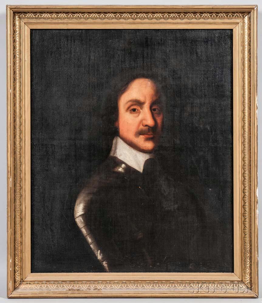 After Robert Walker (British, 1607-1658)    Portrait of Oliver Cromwell
