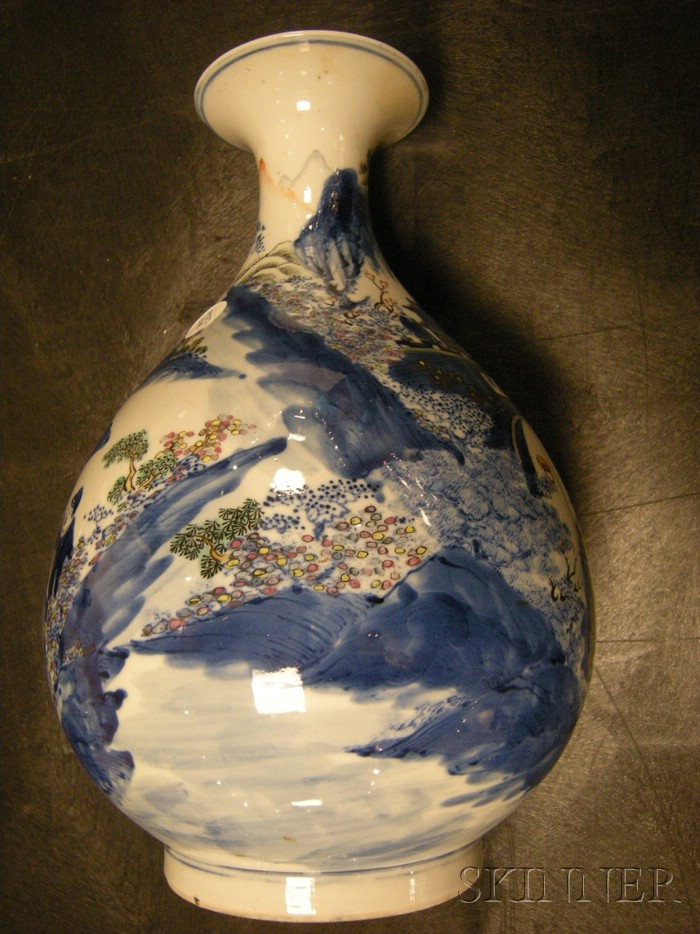 Blue and White and Famille Rose Vase