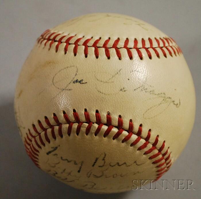 1948 New York Yankees Autographed Baseball