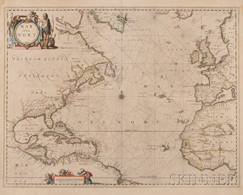 (Maps and Charts, Atlantic Ocean), Jansson, Joannes