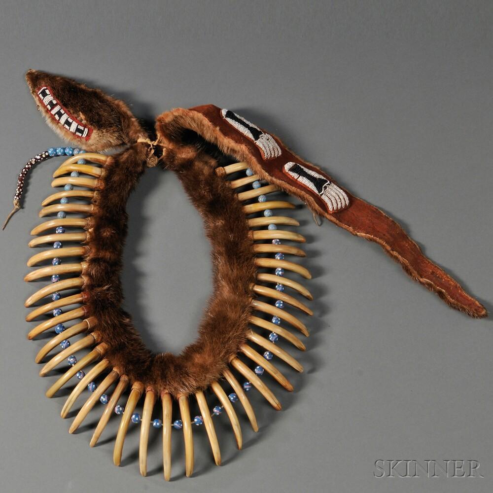 Pawnee-style Bear Claw Necklace