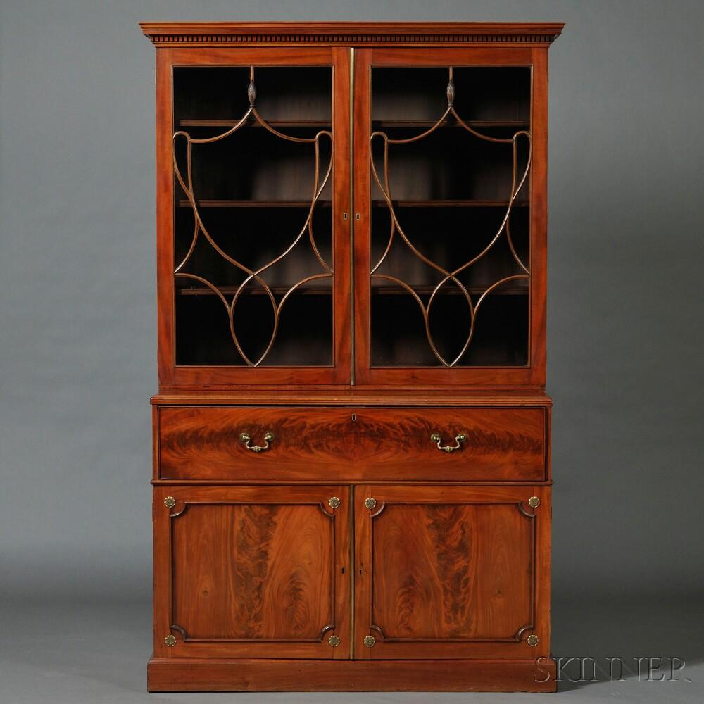 Regency/William IV Mahogany Secretary Bookcase