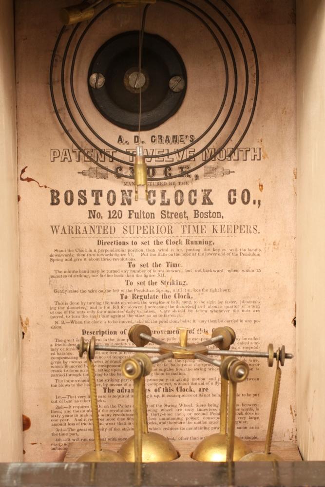 A.D. Crane's Patent Twelve-month Clock