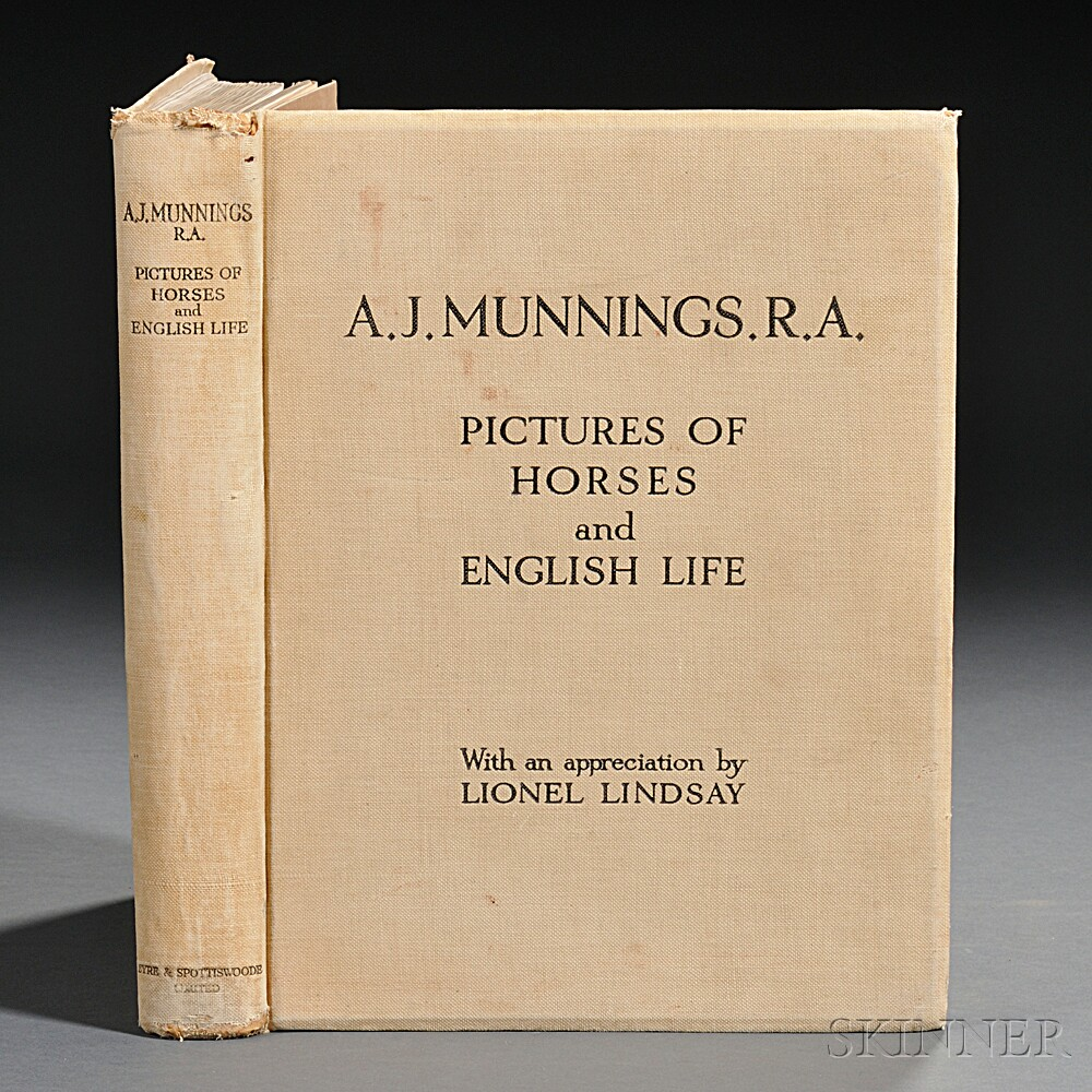 Munnings, Sir Alfred (1878-1959) Pictures of Horses and English Life.