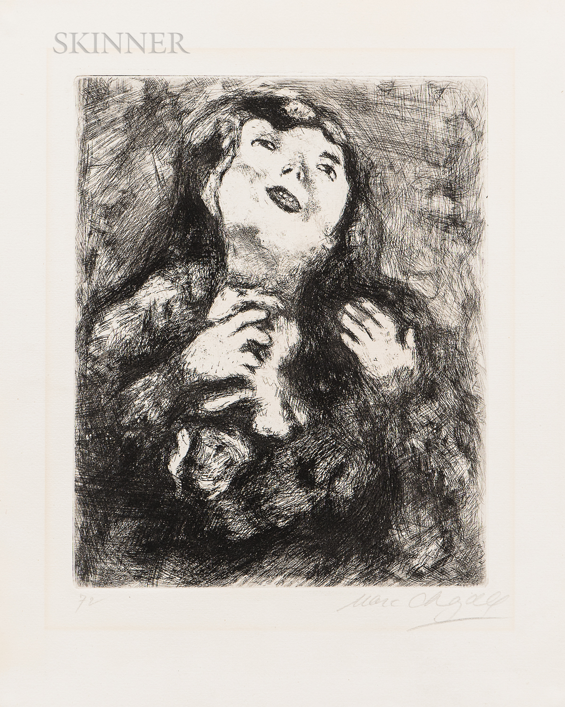 Marc Chagall (Russian/French, 1887-1985)      La Jeune Veuve