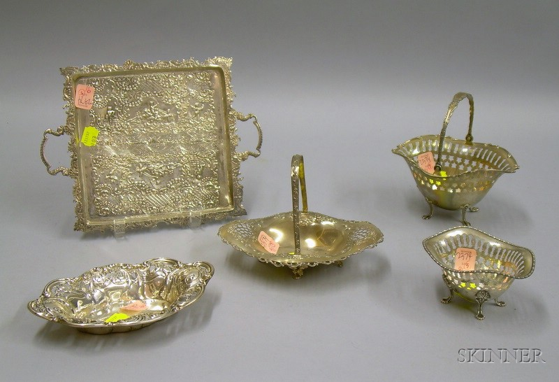 Five Sterling Silver Table Items