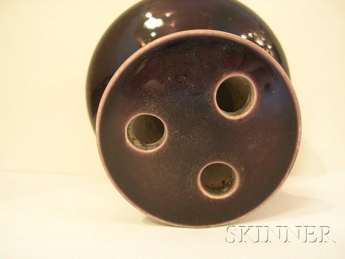 Purple Glazed Incense Holder
